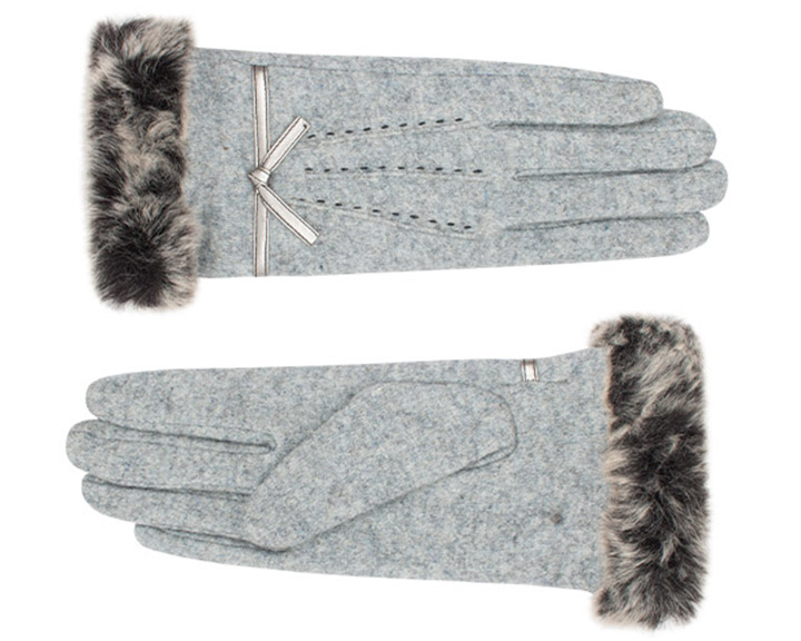 Jemma Glove Knitted Silver Grey-6623