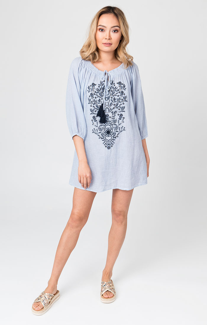 Valletta Tunic Blue/White-0