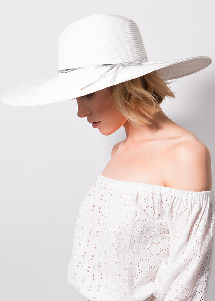 Adelaide Hat White/Silver-0