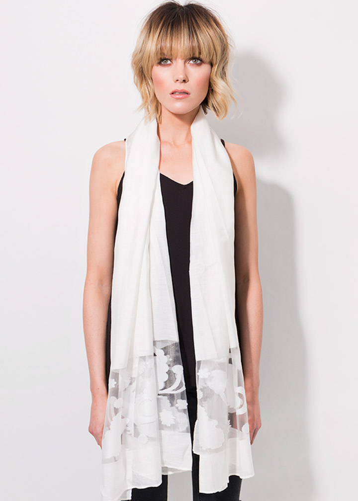 Antonia Scarf White-0