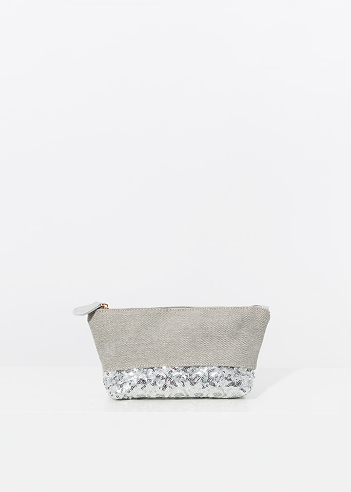 Delfino Makeup Bag Silver-0