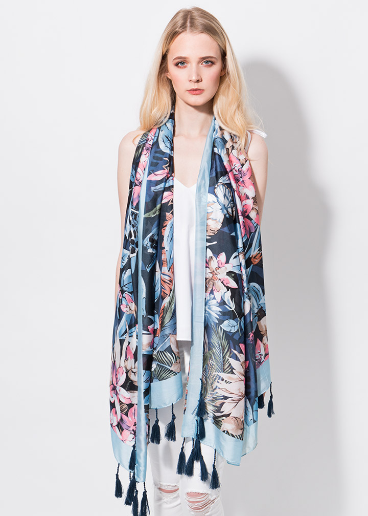Dylano Scarf Blue-0