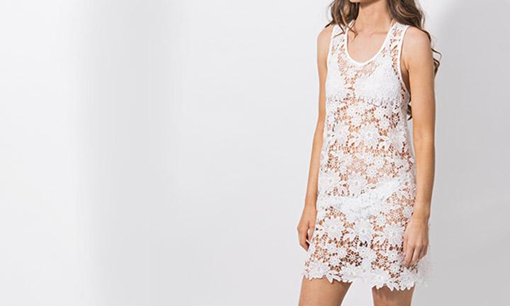 Flamingo Beachdress White-8429