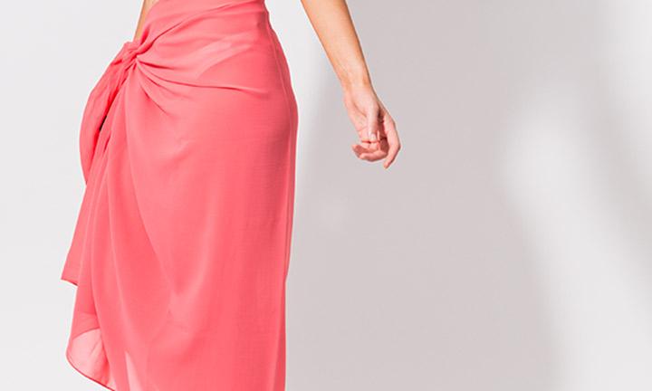Classic sarong wrap, pink