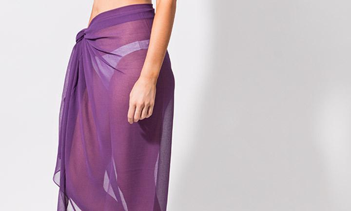 Classic sarong wrap, purple