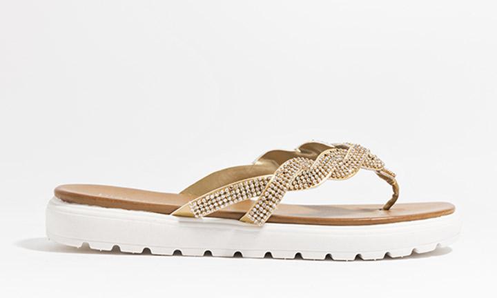 Sandrine Shoe Gold-8090