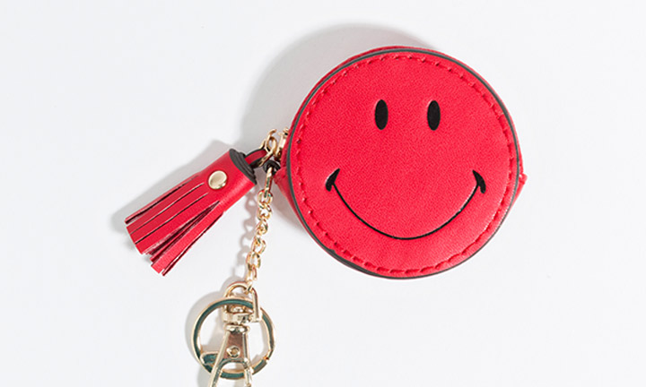 Red purse key ring