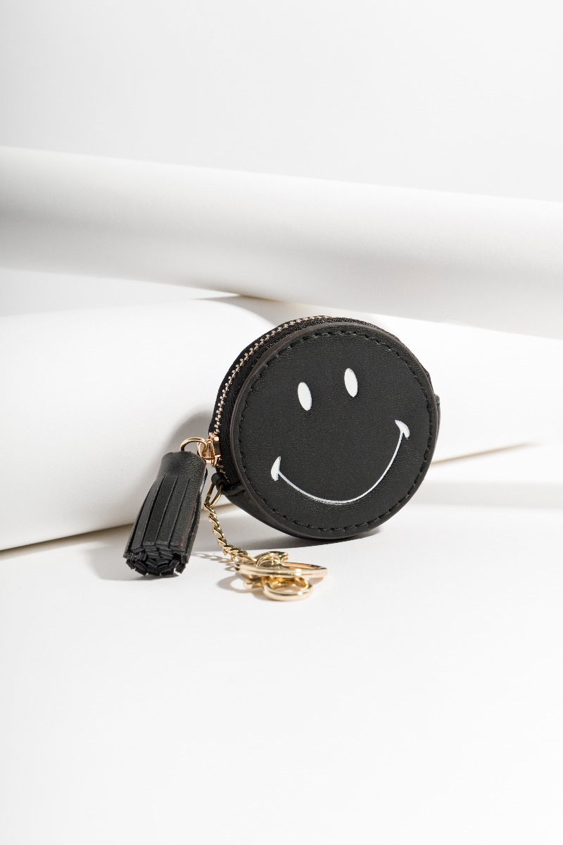Smiley Key Ring Black-0