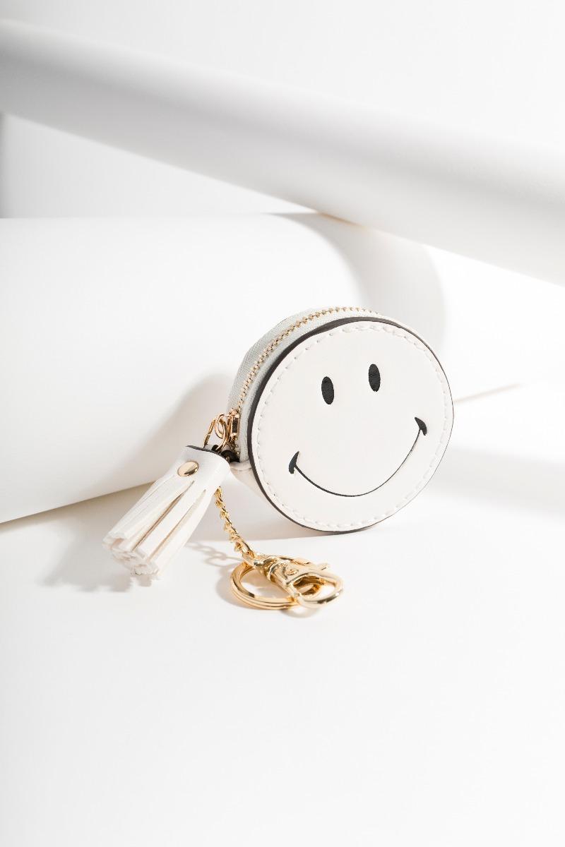 Smiley Key Ring White-11309