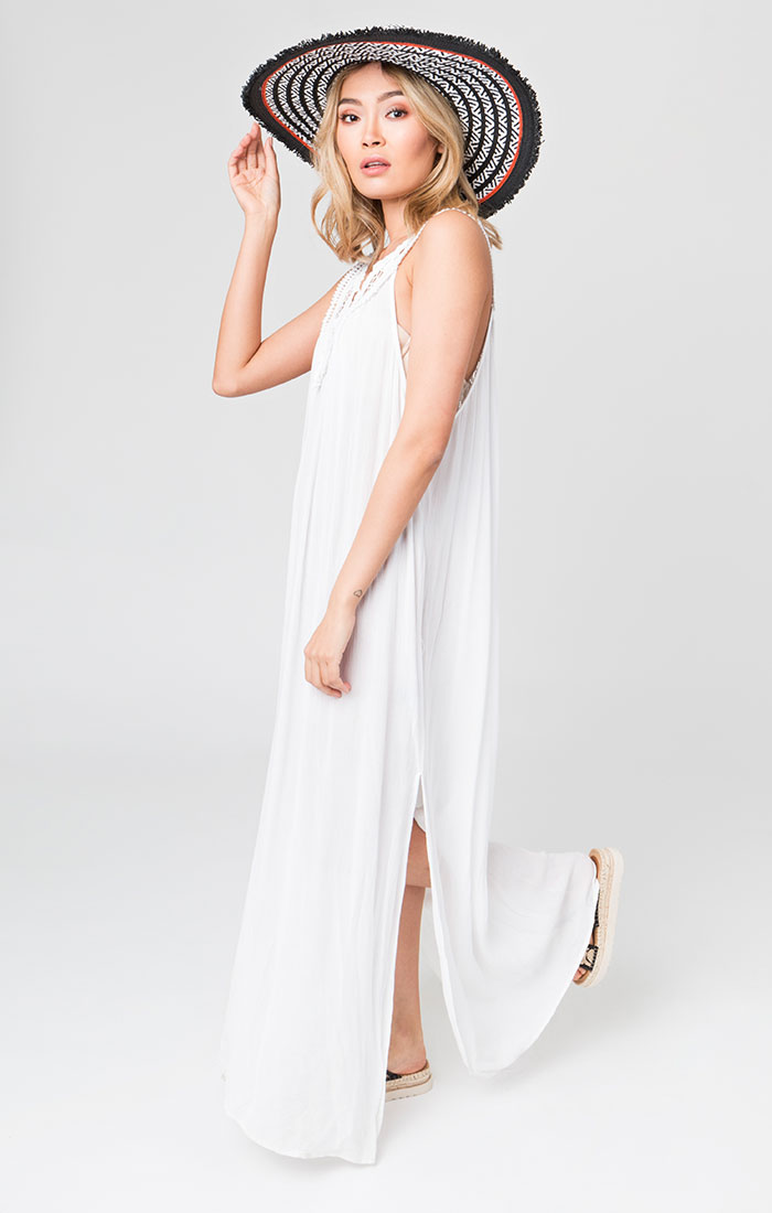 Casablanca Maxi Dress White-10685