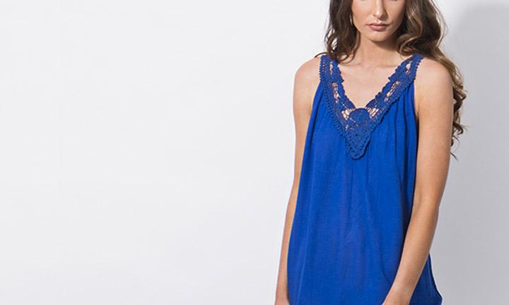 Casablanca Maxi Dress Blue-8956