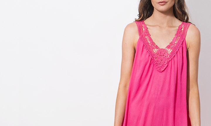 Casablanca Maxi Dress Pink-8962