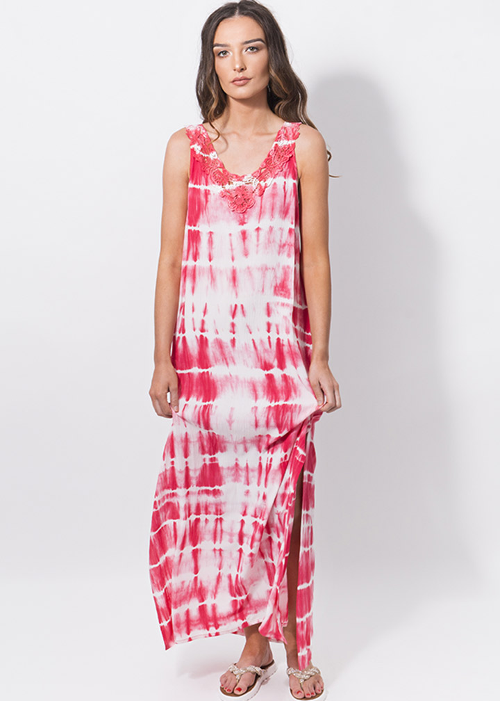 Mango Maxi Dress Pink-0