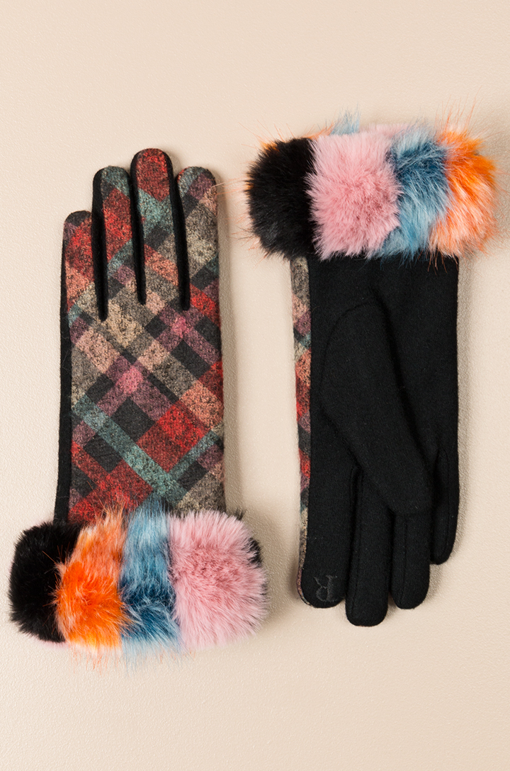 Nikki tartan multi-coloured Gloves-0