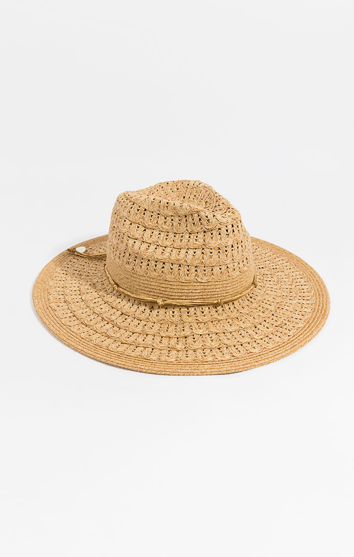 Weaved straw hat, natural