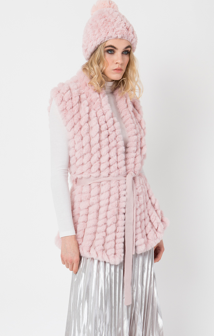 Pink gilet